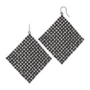 Vieste® Jet Rhinestone Hematite Kite Earrings