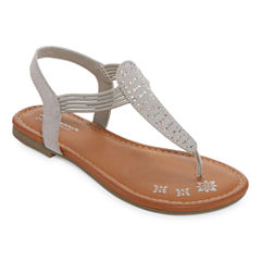 Arizona Sparkling Girls Strap Sandals - Little Kids