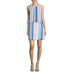 Worthington Sleeveless Tiered Shift Dress
