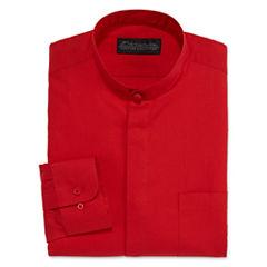 D'Amante Banded-Collar Dress Shirt - Big & Tall