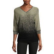 Alyx 3/4 Sleeve V Neck Pullover Sweater