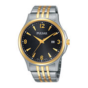 Pulsar® Mens Two-Tone Stainless Steel Watch PH9076