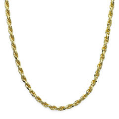 Made in Italy 18K Gold over Sterling Silver Diamond-Cut Rope Chain 24