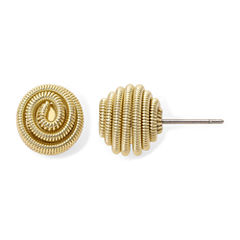 Monet® Gold-Tone Button Stud Earrings