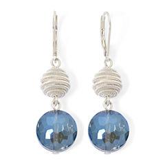 Monet® Silver-Tone Double-Drop Earrings
