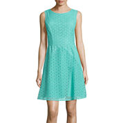 nicole by Nicole Miller® Fit-and-Flare Eyelet Dress