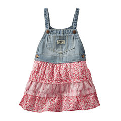 OshKosh B'gosh® Sleeveless Tiered Denim Skirtall - Baby Girls 3m-24m