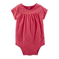 OshKosh B'gosh® Short-Sleeve Lace Bodysuit - Baby Girls 3m-24m