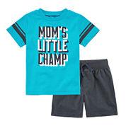 Okie Dokie® Short-Sleeve Football Tee or Knit Shorts - Baby Boys newborn-24m