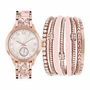 Fashion Watches Womens Pink Watch Boxed Set