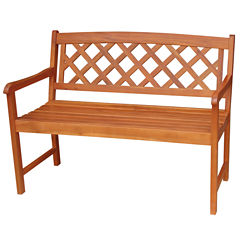 X Back Patio Bench