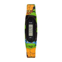 Ninja Turtle Boys Pedometer Tracker Strap Watch-Tmr4073jc