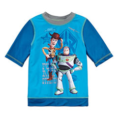 Disney Boys Solid Rash Guard-Big Kid