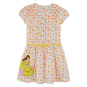 Disney Short Sleeve Disney Princess A-Line Dress - Toddler