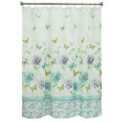 Bacova Guild Watercolor Garden Shower Curtain