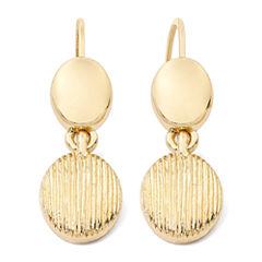 Monet® Gold-Tone Textured Drop Earrings