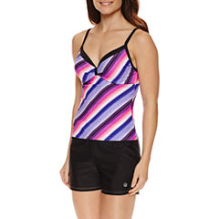 Free Country® Stripe Tankini Swimsuit Top or Swim Short
