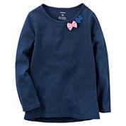 Carter'S Girls Long Sleeve T-Shirt-Baby
