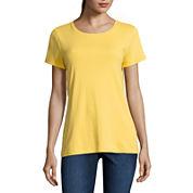St. John`s Bay Short Sleeve Crew Neck T-Shirt