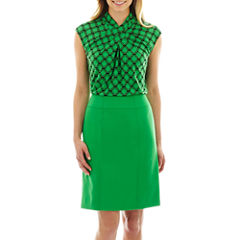 Worthington® Pleat-Neck Crossover Top or Modern Seamed Pencil Skirt