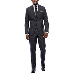 Collection by Michael Strahan Charcoal Plaid Suit Separates- Classic Fit