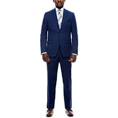 Collection by Michael Strahan Navy Plaid Suit Separates-Classic Fit
