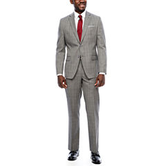 Collection by Michael Strahan Gray Windowpane Suit Separates- Classic Fit