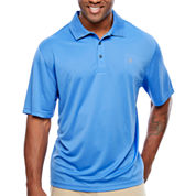 IZOD Short Sleeve Grid Woven Polo Shirt Big and Tall