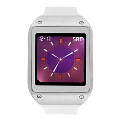 Geneva Mens White Strap Watch-33734