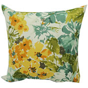 Summer Garden Floral Outdoor Pillow