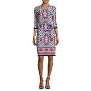 Liz Claiborne 3/4 Sleeve Shift Dress