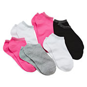 Total Girl® 6-pk. Metallic-Accent No-Show Socks - Girls