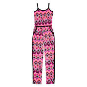 Total Girl® Sleeveless Colorblock Jumpsuit - Girls 7-16