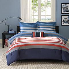 Mi Zone Noah Striped Comforter Set