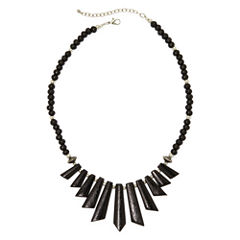 Mixit™ Black Wood Spike Bead Boho Necklace