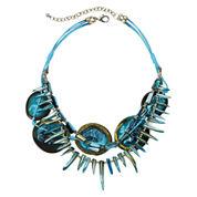 Aris by Treska Aqua Shell Bib Necklace