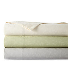 Westport Home 300tc Cotton Jacquard Leaf Sheet Set
