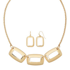 Liz Claiborne® Open Rectangle Earring and Necklace Set