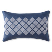 Liz Claiborne® Arabesque Diamond Mosaic Oblong Decorative Pillow