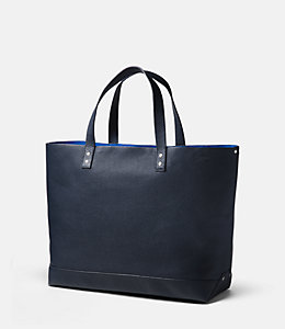 On Purpose Navy Leather Tote