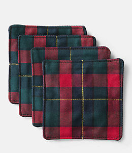 Mini Flannel Coaster Set Of 4