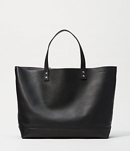 On Purpose  Caviar/Magnet Leather Tote