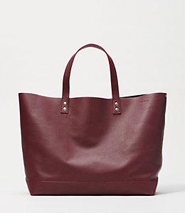 On Purpose  Fig/ Night Sky Leather Tote