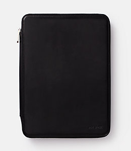 Mitchell Leather Zip iPad Case