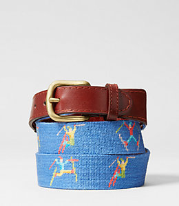 Needlepoint Ski Tricks Belt
