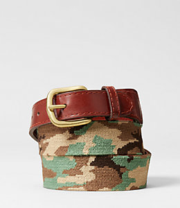 Needlepoint Camo Belt