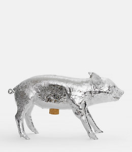 Silver Pig Bank by Areaware