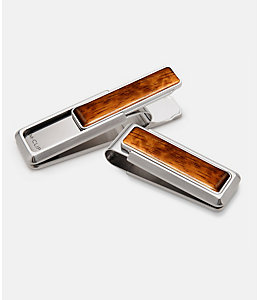 M-Clip® Bubinga Wood Money Clip