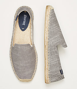 Soludos Striped Linen Smoking Slipper