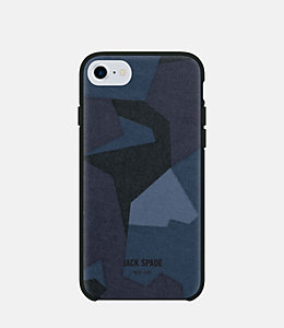 iPhone 7/6/6s Camo Navy Case